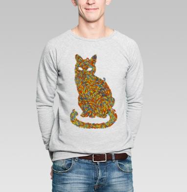 Рыбокот - Купить мужские свитшоты с рыбой в Москве, цена мужских свитшотов с рыбой  с прикольными принтами - магазин дизайнерской одежды MaryJane