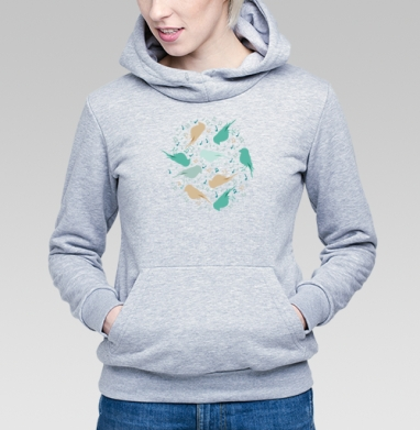 Музыка птиц - Купить детские толстовки с нотами в Москве, цена детских толстовок с нотами  с прикольными принтами - магазин дизайнерской одежды MaryJane