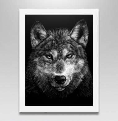 Волчище, Постер в белой раме