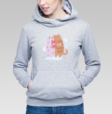 Счастливая семья котиков - Купить детские толстовки с кошками в Москве, цена детских толстовок с кошками  с прикольными принтами - магазин дизайнерской одежды MaryJane