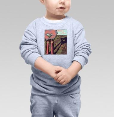 Берегите лес! - Купить детские свитшоты с деревьями в Москве, цена детских свитшотов с деревьями  с прикольными принтами - магазин дизайнерской одежды MaryJane