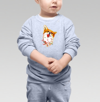 Лисёнок  АКВАРЕЛЬКА - Купить детские свитшоты нежность в Москве, цена детских свитшотов нежность  с прикольными принтами - магазин дизайнерской одежды MaryJane