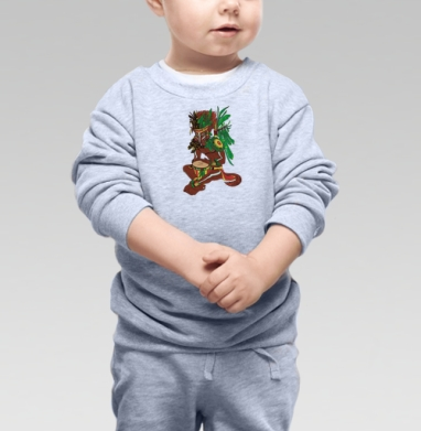 Старый Койот, Cвитшот Детский серый меланж
