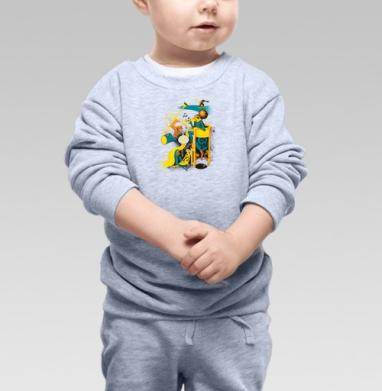 Вызов на Сады, Cвитшот Детский серый меланж