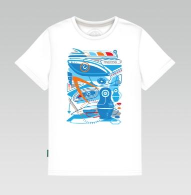 MAZDA 3 blue EXPO - Детская футболка белая 160гр, Магазин футболок Zorn