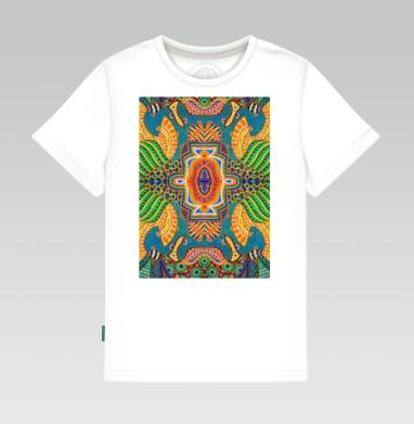 Детская футболка белая 160гр - орнамент 01