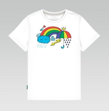 Детская футболка белая 160гр - RAIN&RAINBALL