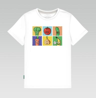 Детская футболка белая - Друзья вегана