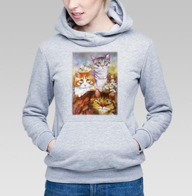 Из жизни котиков - Купить детские толстовки красивые в Москве, цена детских толстовок красивых  с прикольными принтами - магазин дизайнерской одежды MaryJane