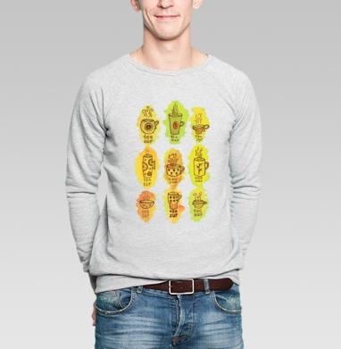 Чашки чая  - Купить мужские свитшоты паттерн в Москве, цена мужских  с паттерном  с прикольными принтами - магазин дизайнерской одежды MaryJane