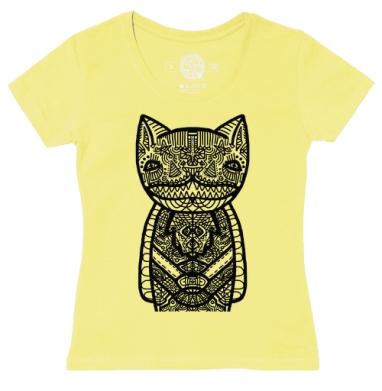 Футболка женская желтая - Cheshire cat