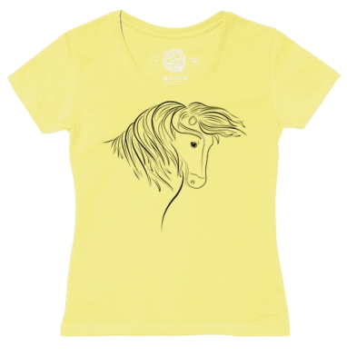 Футболка женская желтая - Дикая лошадь