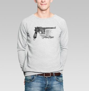 Маузер  - Купить мужские свитшоты с оружием в Москве, цена мужских свитшотов с оружием  с прикольными принтами - магазин дизайнерской одежды MaryJane