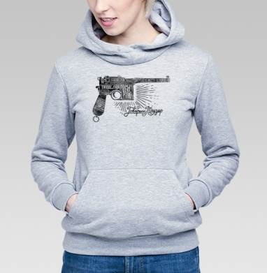 Маузер , Толстовка Женская серый меланж 340гр, теплая