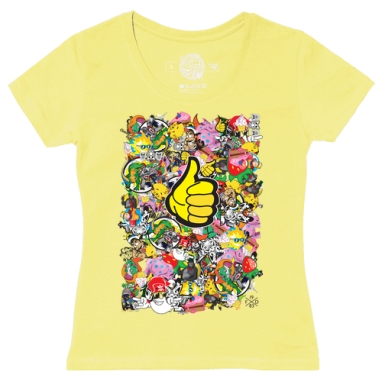 Футболка женская желтая - Микс