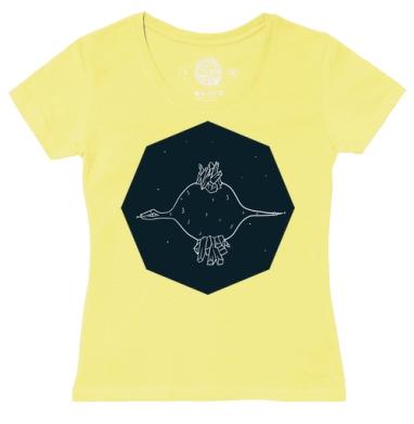 Футболка женская желтая - PLANET IN THE SNAKE