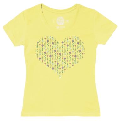 Футболка женская желтая - Полевые цветы