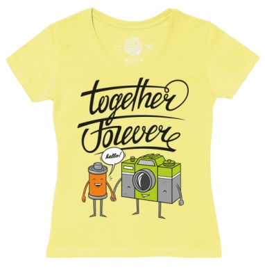 Футболка женская желтая - Together Forever