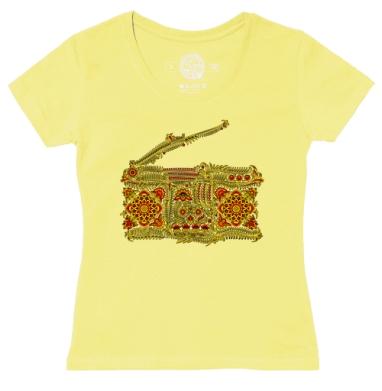 Футболка женская желтая - Хохлофон
