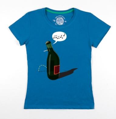 Футболка женская волна 200гр - Piss-Bottle