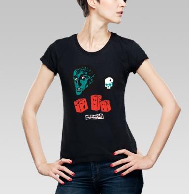 Футболка женская чёрная - SOKI