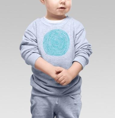Бирюзовый абстрактный орнамент  - Купить детские свитшоты абстрактные в Москве, цена детских свитшотов абстрактных  с прикольными принтами - магазин дизайнерской одежды MaryJane