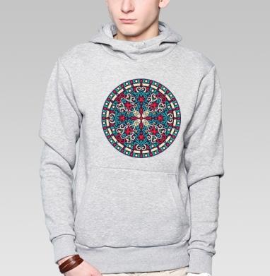 Mandala - Толстовка серая с капюшоном, цвет