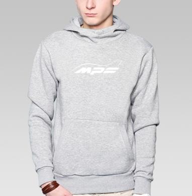 Mazda MPS Аeroplane, Толстовка мужская, накладной карман серый меланж
