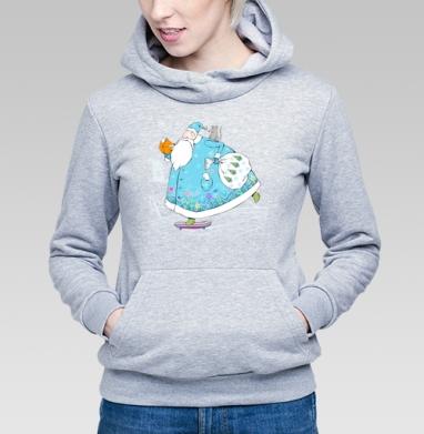 Дед Мороз на скейте - Купить детские толстовки Новый год в Москве, цена детских толстовок новогодних  с прикольными принтами - магазин дизайнерской одежды MaryJane