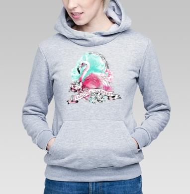 Фламинго - Купить детские толстовки с роами в Москве, цена детских толстовок с розой с прикольными принтами - магазин дизайнерской одежды MaryJane