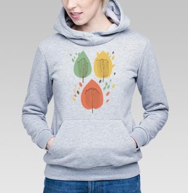 Floral pattern with leaves - Купить детские толстовки ретро в Москве, цена детских толстовок ретро  с прикольными принтами - магазин дизайнерской одежды MaryJane