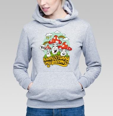 Funny Mushrooms - Купить детские толстовки с грибами в Москве, цена детских толстовок с грибами с прикольными принтами - магазин дизайнерской одежды MaryJane