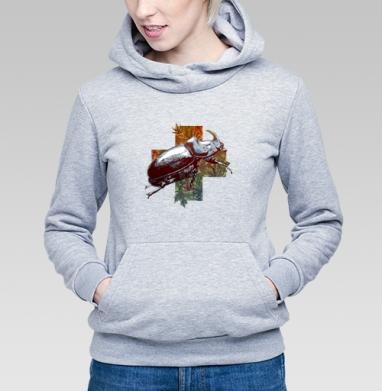 Жук-носорог - Купить детские толстовки с насекомыми в Москве, цена детских толстовок с насекомыми  с прикольными принтами - магазин дизайнерской одежды MaryJane