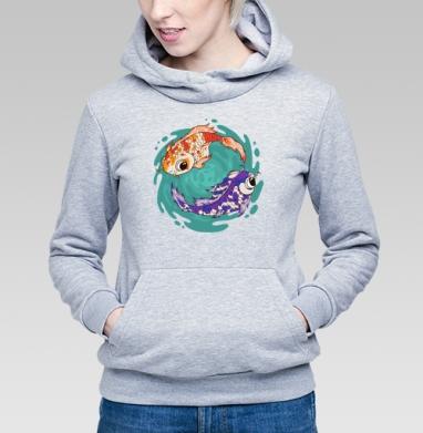 Кои - Купить детские толстовки с рыбой в Москве, цена детских толстовок с рыбой  с прикольными принтами - магазин дизайнерской одежды MaryJane