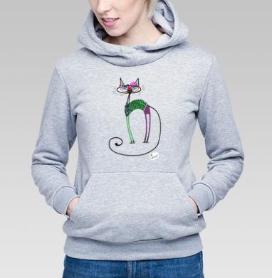 Кошка-хипстер - Купить детские толстовки хипстерские в Москве, цена детских толстовок хипстерских  с прикольными принтами - магазин дизайнерской одежды MaryJane