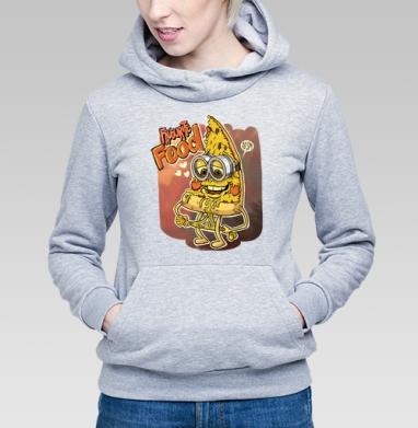 Кусочек пиццы - Купить детские толстовки с едой в Москве, цена детских толстовок с едой  с прикольными принтами - магазин дизайнерской одежды MaryJane