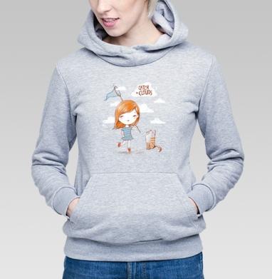 Ловить облака - Купить детские толстовки с летом в Москве, цена детских толстовок с летом  с прикольными принтами - магазин дизайнерской одежды MaryJane