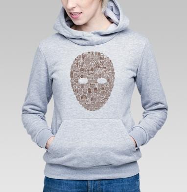 Maskarad - Толстовка Женская серый меланж 340гр, теплая, Купить толстовки победителей