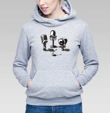 Microphones - Купить детские толстовки ретро в Москве, цена детских толстовок ретро  с прикольными принтами - магазин дизайнерской одежды MaryJane