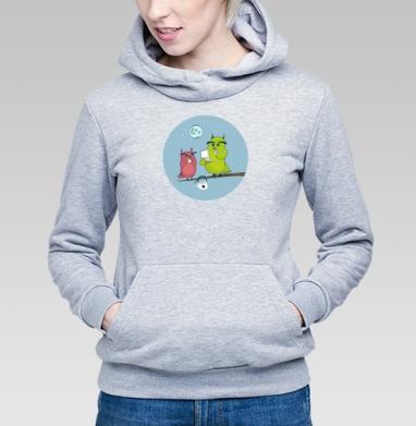 Ночной чай  - Купить детские толстовки с птицами в Москве, цена детских толстовок с птицами  с прикольными принтами - магазин дизайнерской одежды MaryJane