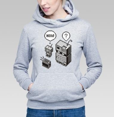Толстовка Женская серый меланж - Robots