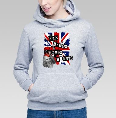 SEX DRUGS THOMAS HOBBES - Купить детские толстовки с дымом в Москве, цена детских толстовок с дымом  с прикольными принтами - магазин дизайнерской одежды MaryJane