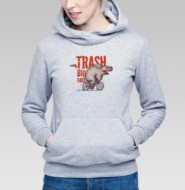 Trash BIG RACE - Купить детские толстовки с велосипедом в Москве, цена детских толстовок с велосипедом  с прикольными принтами - магазин дизайнерской одежды MaryJane