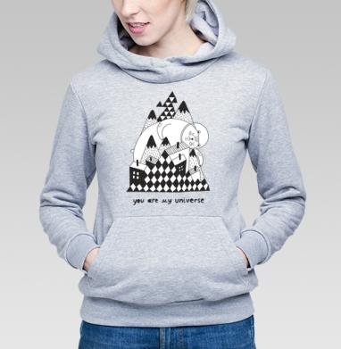 Ты моя вселенная - Купить детские толстовки с медведем в Москве, цена детских  с медведем  с прикольными принтами - магазин дизайнерской одежды MaryJane