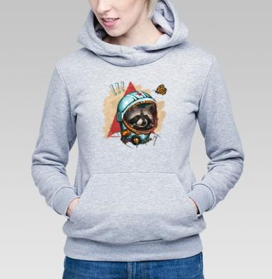 Весенний енот - Купить детские толстовки с бабочками в Москве, цена детских толстовок с бабочкой с прикольными принтами - магазин дизайнерской одежды MaryJane