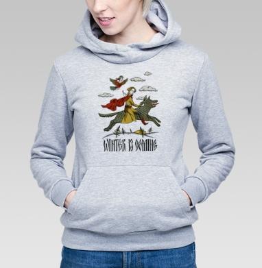 Винтер из коминг - Купить детские толстовки с волками в Москве, цена детских толстовок с волками  с прикольными принтами - магазин дизайнерской одежды MaryJane