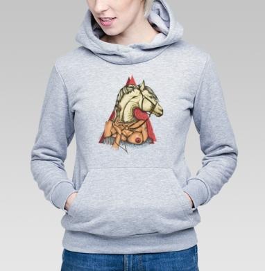 White horse - Купить детские толстовки с символами в Москве, цена детских толстовок с символом с прикольными принтами - магазин дизайнерской одежды MaryJane