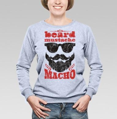 Борода... усы... мачо - Купить детские свитшоты с бородой в Москве, цена детских свитшотов с бородой  с прикольными принтами - магазин дизайнерской одежды MaryJane