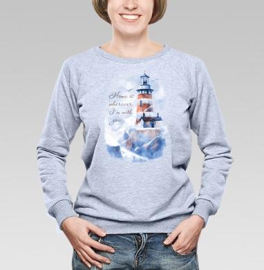 Маяк - Купить женские свитшоты с природой в Москве, цена женских свитшотов с природой  с прикольными принтами - магазин дизайнерской одежды MaryJane