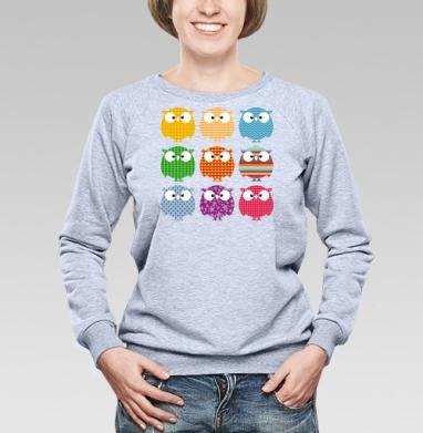 Совопати - Cвитшот женский, серый-меланж  320гр, стандарт, психоделика, Популярные